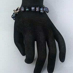 VTG 925 Genuine Freshwater Peacock Pearl Bracelet